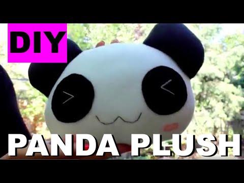 DIY Kawaii Panda Plush! How to Make a Stuffed Animal Panda- EASY Pillow Tutorial + FREE PATTERN
