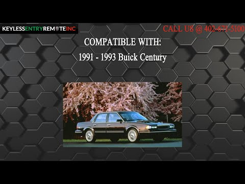 How To Replace Buick Century Key Fob Battery 1991 1992 1993