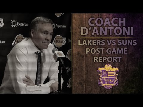 Video: Lakers vs Suns: D'Antoni On Frustrations, Kobe Playing With Nick Young