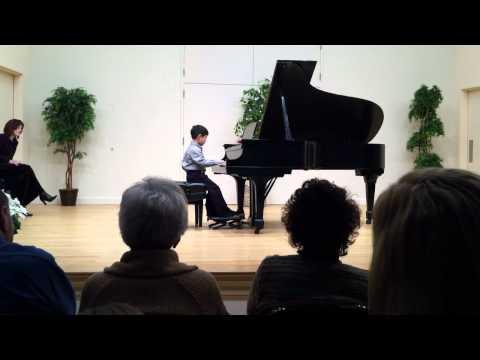 Benjamin plays in recital Jan, 2012