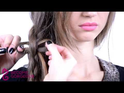 Bow Braid Hair Tutorial - Become Gorgeous (видео)