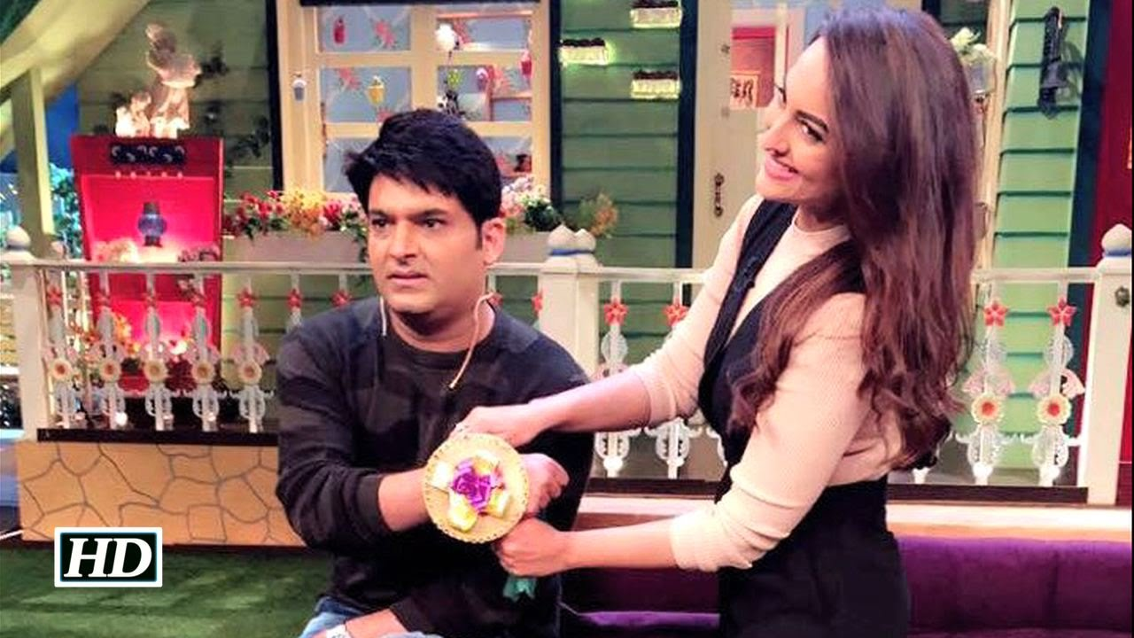 OMG ! Sonakshi ties BIGGEST RAKHI on Kapil's hand