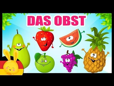 Das Obst auf deutsch lernen - German vocabulary - Fruits & vegetables - Titounis (видео)