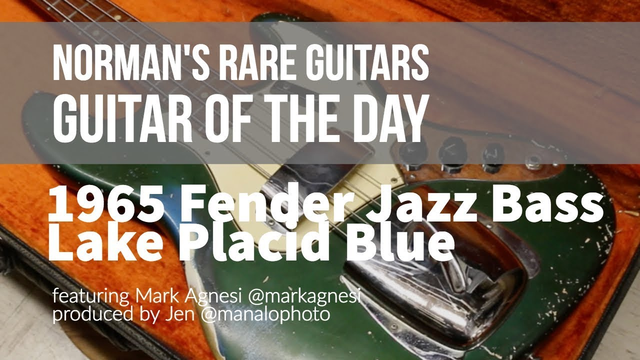 Norman's Rare Guitars – Guitar of the Day: 1965 Fender Jazz Bass Lake Placid Blue