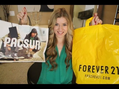 pac sun - Happy Monday! I know this is my least favorite day of the week...so why not spice it up with my favorite kind of videos.....A HAUL! Make sure to LIKE, SHARE,...