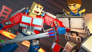 Minecraft | WHO'S YOUR DADDY? Baby's New TRANSFORMER Kills Dad! (Optimus Prime Daddy)