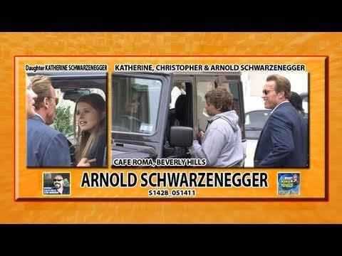 Arnold Schwarzenegger Explains to Daughter Katherine, & Son Chris S1428