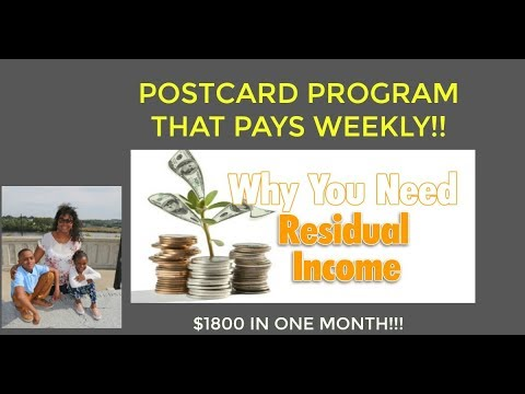 How to Earn A Full Time Income From Home 2018 - Postcard Program That Works!