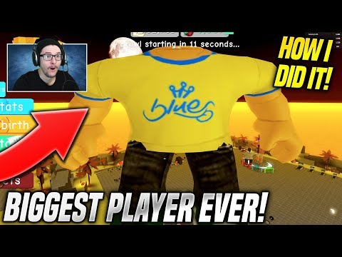 HOW I BECAME THE STRONGEST PLAYER EVER IN WEIGHT LIFTING SIMULATOR 3!! (Roblox)