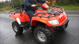 6. ARCTIC CAT 700 4X4 ROAD REG DIESEL QUAD BIKE FOR SALE £3250 by www.catlowdycarriges.com