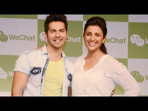 Parineeti & Varun At The Launch Of WeChat