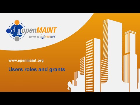 openMAINT: Users roles and grants
