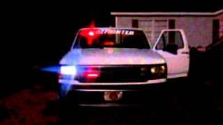 Firefighter lights on a f150
