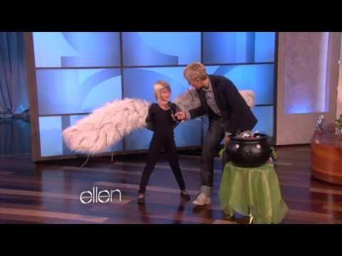 Costumes - Ellen has some trick or treaters! A group of adorable kids dropped by to collect some candy, and Ellen couldn't resist helping them with their costumes. If y...
