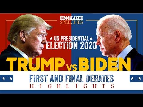 ENGLISH SPEECH | US PRESIDENTIAL DEBATES 2020: Highlights (English Subtitles)