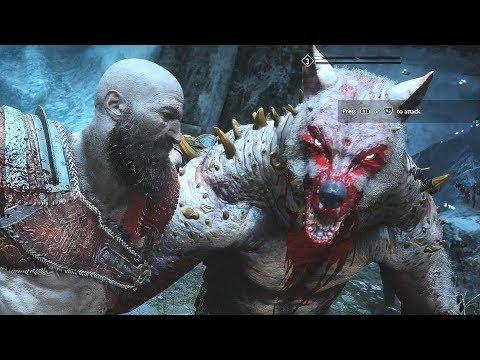 God of War 4 2018 StoneBeard King Boss Fight  No Damage Walkthrough Part 37 PS4 PRO