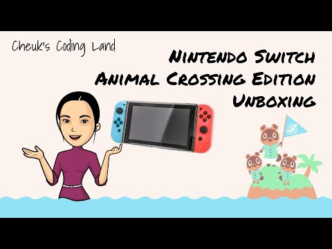 Nintendo Switch (Animal Crossing Edition) Unboxing