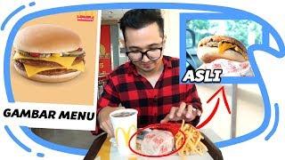 GAMBAR MENU vs ASLI NYA edisi McD, KFC dan Burger King - Mari Kita Bandingkan