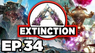 ARK: Extinction Ep.34 - DESERT TITAN CAVE & TERMINAL, ARTIFACT OF CHAOS! (Modded Dinosaurs Gameplay)