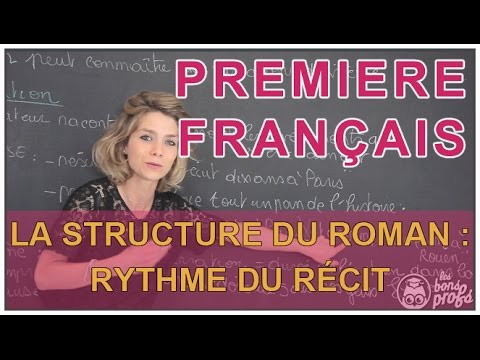 La structure du roman : le rythme du récit - Français Première - Les Bons Profs