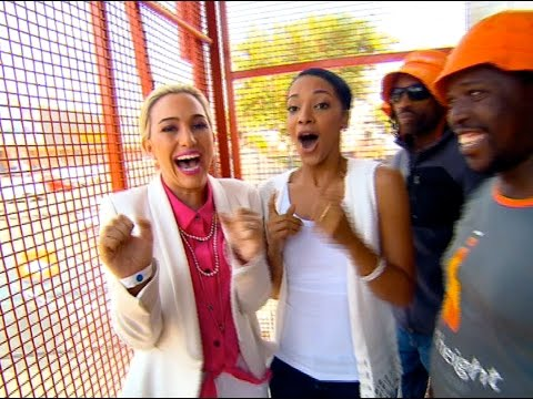 Liesl Laurie goes bungee jumping on Top Billing