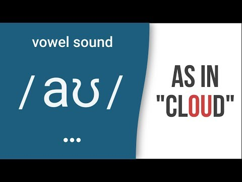 "Diphthong Sound /aʊ/ as in ""cloud"" – American English Pronunciation"