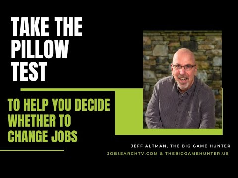 how to decide whether to change jobs