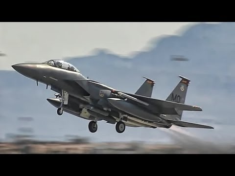 Various military planes takeoff...