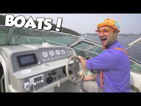 Boats for Children with Blippi   Educational Videos for Toddlers