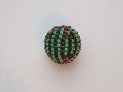 Tutorial perline (Beaded Bead): come rivestire una perla con perline 1/4 (Peyote) | Tutorial Perline