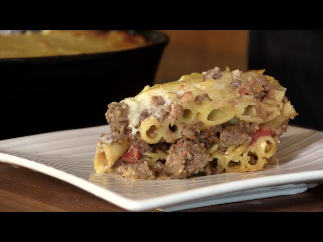 Pastitsio (Greek Lasagna) Recipe! On the Primo Oval XL