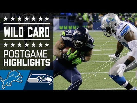Lions vs. Seahawks | NFL Wild Card Game Highlights (видео)