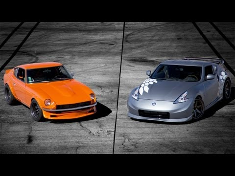Nissan Project 370Z vs 1970 Datsun 240Z with RB26 Track Battle! – The Downshift Episode 54