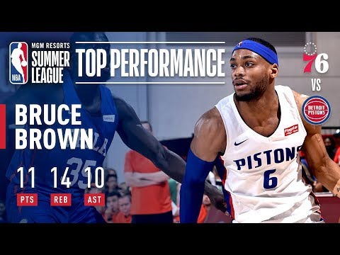 Video: Bruce Brown Records Summer League's First Triple Double As Pistons Defeat 76ers | July 10, 2019