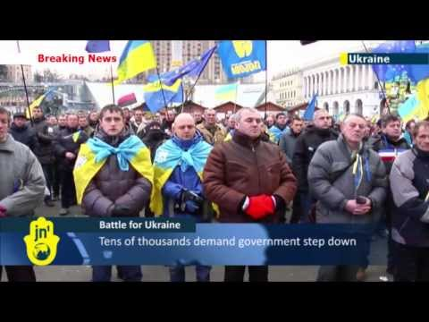 amid - Tens of thousands of demonstrators converged on Ukraine's capital during the evening of 4 Nov. to demand the resignation of Cabinet of Ministers and Presiden...