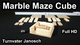 Marble Maze Cube puzzle by Turnvater Janosch, YouTube video thumbnail
