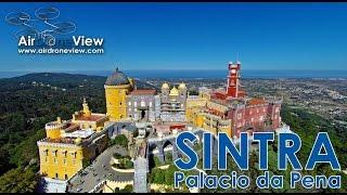 Sintra Portugal  City new picture : Palacio da Pena. Sintra, Portugal - Air Drone View