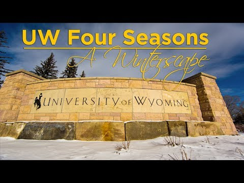 Four Seasons: A Winterscape video featuring footage of the University campus and Wyoming