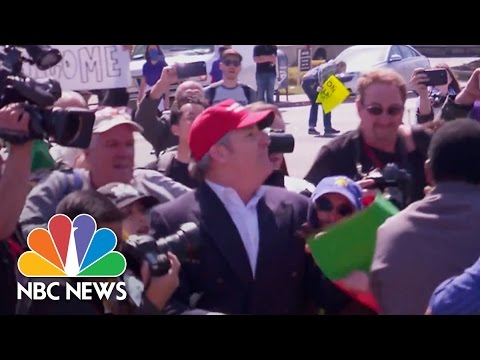 Donald Trump Supporter Roughed Up Outside California GOP Convention   NBC News
