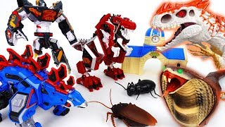 Video Go Go 3 Geo-Mecha RapTor Tyrannotooth Stegotank~! Battle With Hideous Monsters - ToyMart TV MP3, 3GP, MP4, WEBM, AVI, FLV Juli 2018