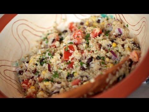 Mexican Quinoa Salad Recipe & Vinaigrette (Cilantro Lime) || Kin Eats