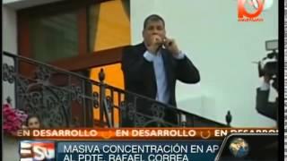 Marcha de apoyo al Presidente Rafael Correa del Ecuador. Fuera golpistas, fuera. Dossier, VTV, vtv, vtv3, vtv 4, vtv plus