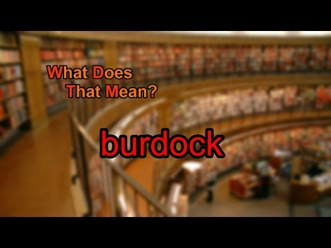 What does burdock mean?