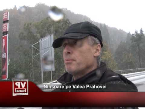 Ninsoare pe Valea Prahovei