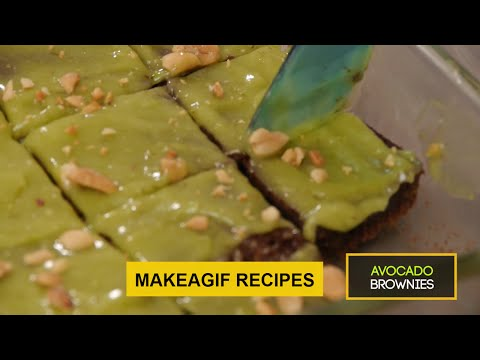 GIF Recipes: Decadent Avocado Chocolate Brownies | Easy Desserts