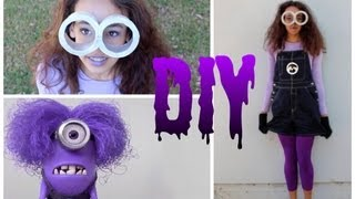 DIY Purple Minion Costume +Makeup&Hair! -HowToByJordan