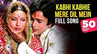 Video Kabhi Kabhie Mere Dil Mein (Female) Song HD | कभी कभी मेरे दिल | Kabhi Kabhie | Shashi, Rakhee, Lata download in MP3, 3GP, MP4, WEBM, AVI, FLV January 2017