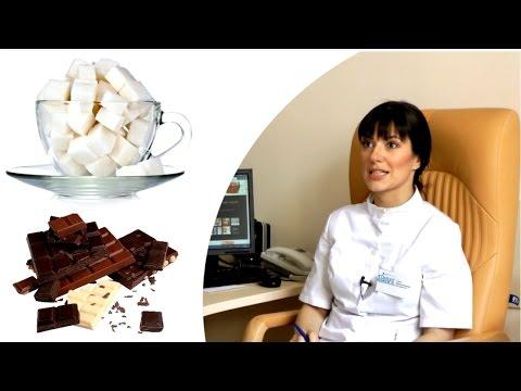 Угри на коже - от сладкого (видео)
