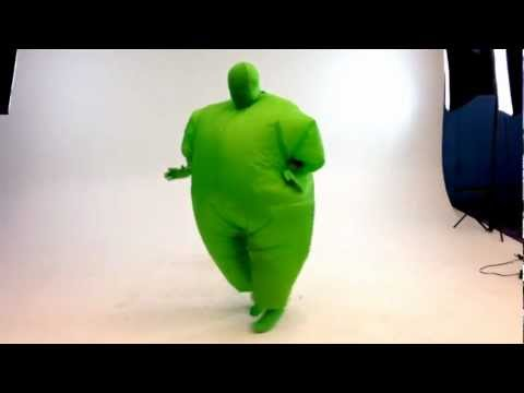 Inflatable Chubsuit costume dance video
