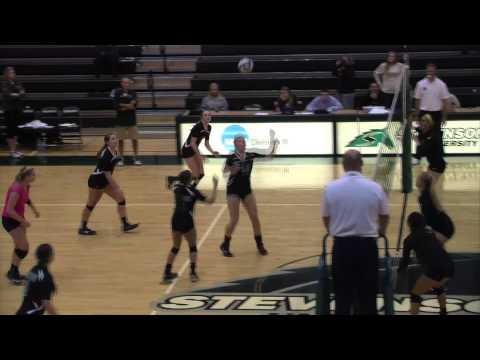 Women's Volleyball Highlights: Stevenson vs. Stevens